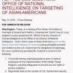 Congressman Ted Lieu Questions Office of National Intelligence